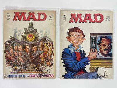 SIGNED Sergio Aragones PAIR Of Mad Magazines No. 178 1975 & No. 160 1973