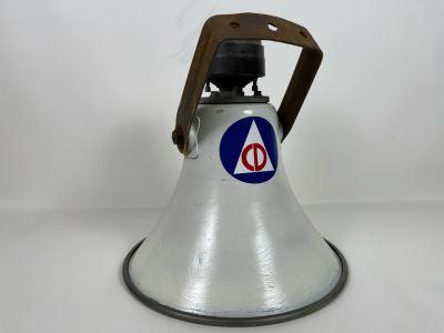 Vintage American Civil Defense Loudspeaker Alarm Warning Speaker By University Loudspeakers SAHF 15.5R W X 17L