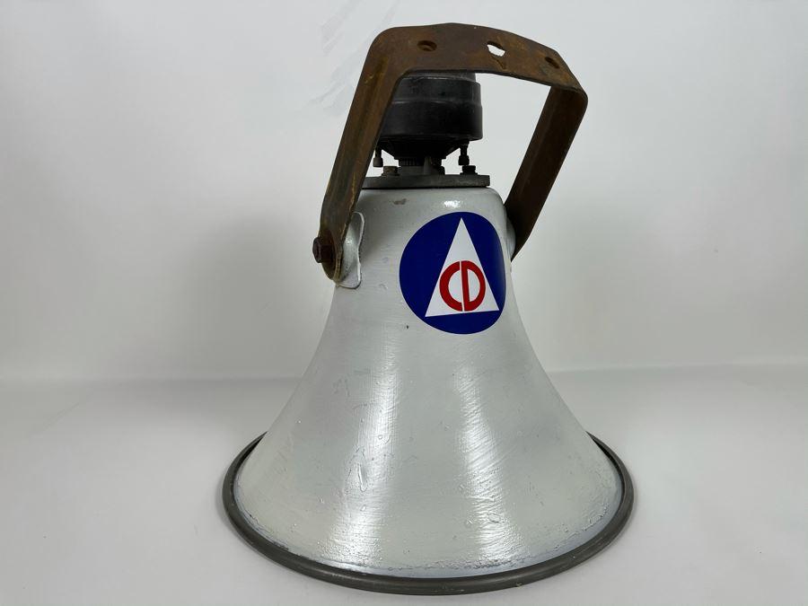 Vintage American Civil Defense Loudspeaker Alarm Warning Speaker By University Loudspeakers SAHF 15.5R W X 17L [Photo 1]