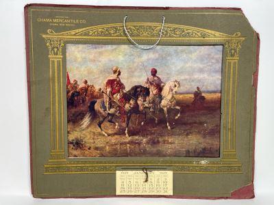 Vintage 1925 Chama Mercantile Co Chama, New Mexico Advertising Wall Calendar Epherema 19.5 X 16.5