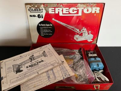 Vintage Gilbert Erector Set: The Electric Engine Set With Manuals