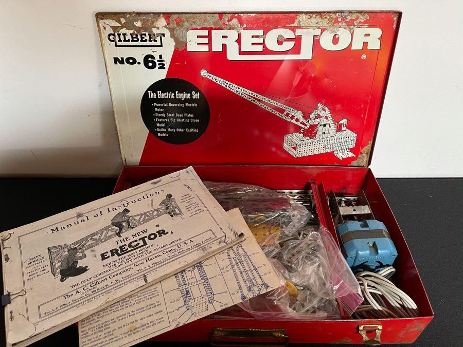 Vintage Gilbert Erector Set: The Electric Engine Set With Manuals