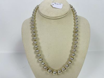 20'L Sterling Silver Graduated Big Round Beads Necklace Lobster Claw Clasp 53g Retails $250