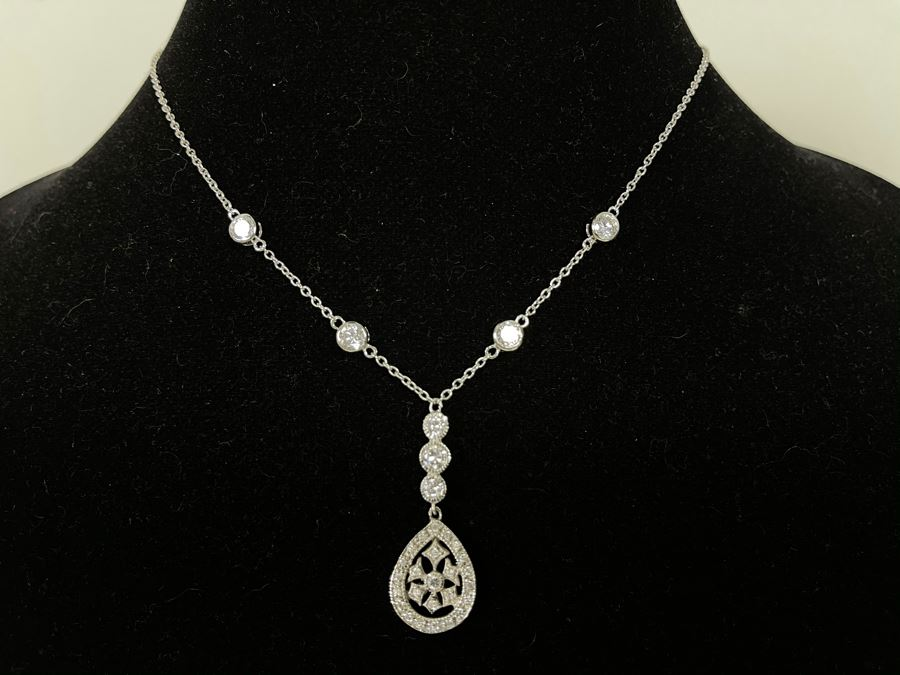 Sterling Silver Pendant Necklace 16L [Photo 1]
