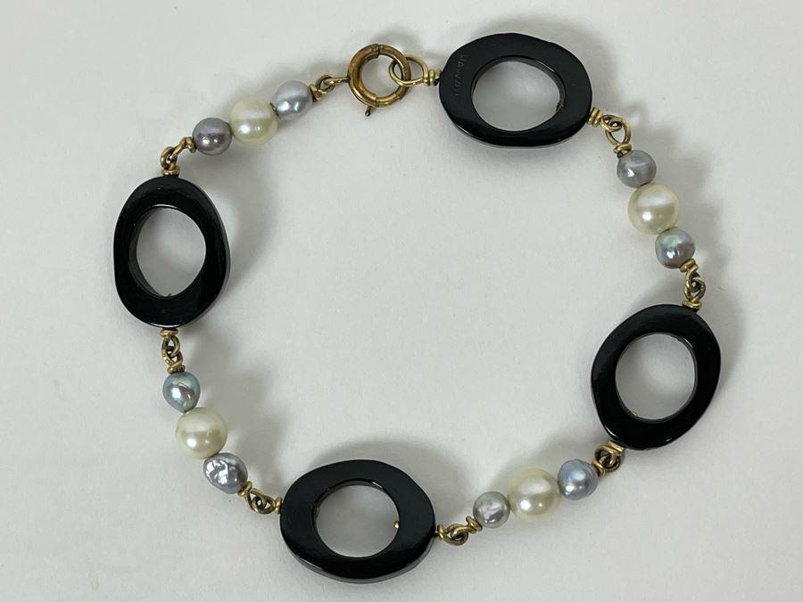 Hawaiian Pearl Bracelet 8L [Photo 1]