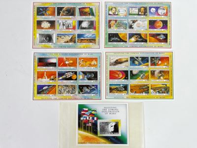 Mint Stamp Collection Saluting The Coming Exploration Of Mars From International Co-Operation For The Exploration Of Mars