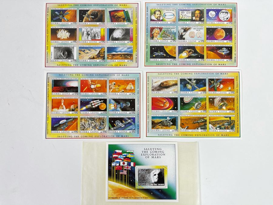 Mint Stamp Collection Saluting The Coming Exploration Of Mars From International Co-Operation For The Exploration Of Mars [Photo 1]