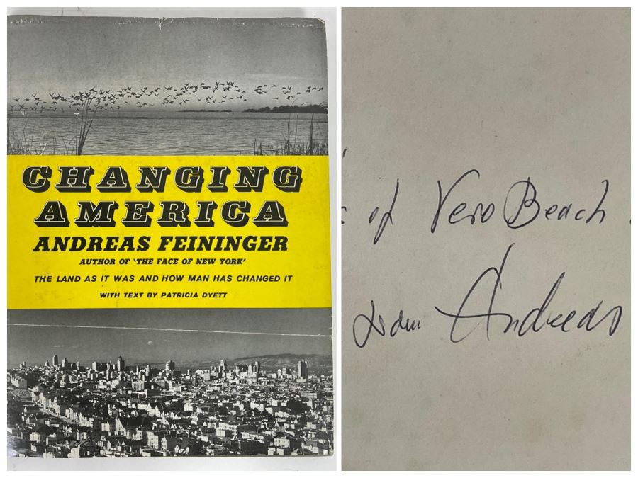 JUST ADDED - Signed First Edition Book 'Changing America' By Andreas Feininger