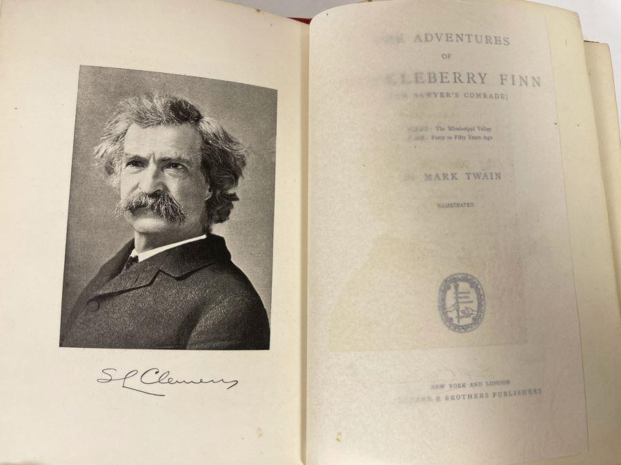 JUST ADDED - Antique 1896 Book The Adventures Of Huckleberry Finn (Tom Sawyer's Comrade) By Mark Twain (Samuel Langhorne Clemens)