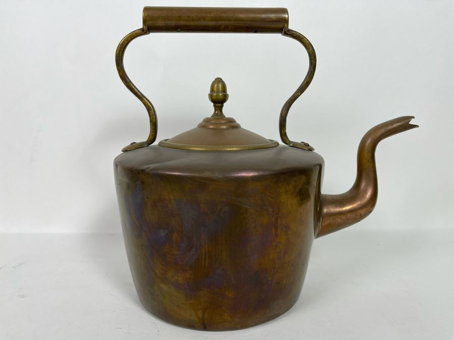 JUST ADDED - Vintage Copper Teapot 11W X 10H