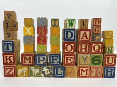 JUST ADDED - Collection Of Vintage Wooden Blocks