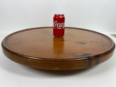 JUST ADDED - Large Wooden Lazy Susan Turntable 23'R