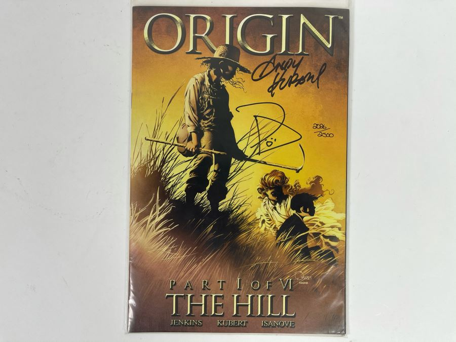 JUST ADDED - Signed 'Origin* #1' Comic Book Signed By Paul Jenkins And Andy Kubert With Cert