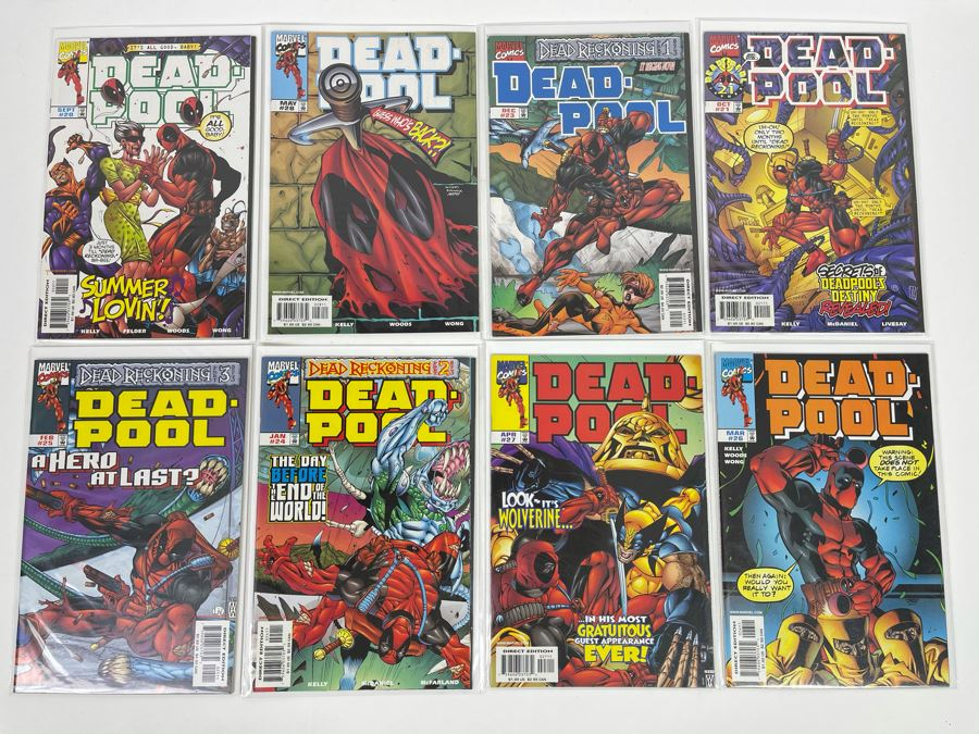JUST ADDED - Collection Of Eight Marvel Deadpool Comic Books