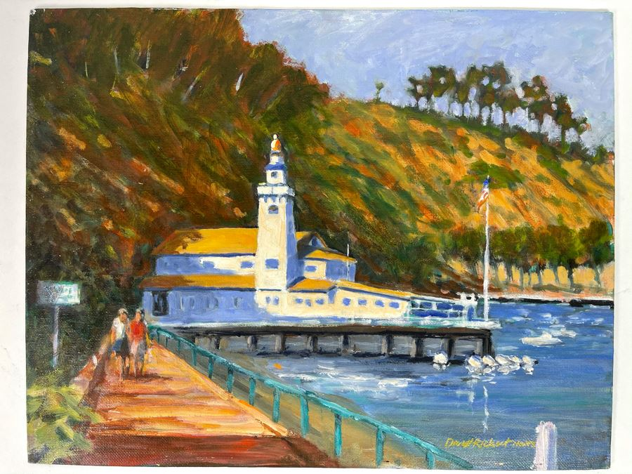 Original Plein Air Painting Of Catalina Island By Local California Impressionist Artist David Rickert 11 X 14