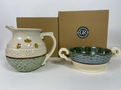 New Irish Pitcher And Bowl By Grasslands Road Retails $56