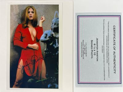 Hand Signed Jennifer Aniston Photograph Autographed With Certificate Of Authenticity 6.5 X 10