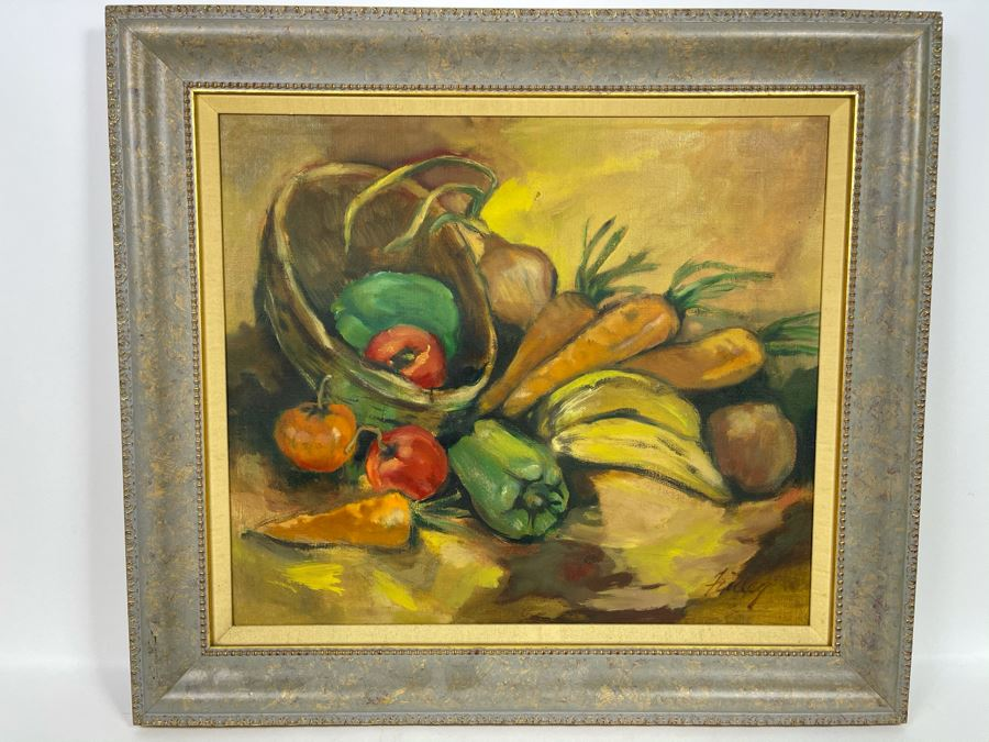 Original Plein Air Painting By Local Fallbrook Artist Dorothy Finley In Nice Picture Frame Retailed $575