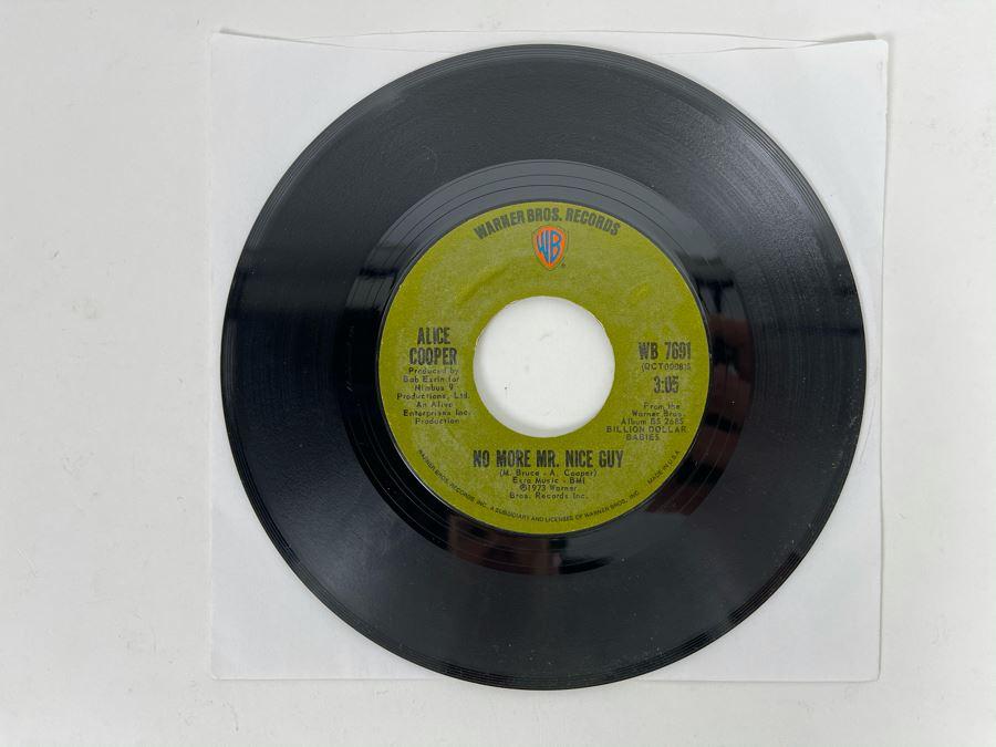 Vintage 1973 Alice Cooper No More Mr. Nice Guy 45RPM Vinyl Record