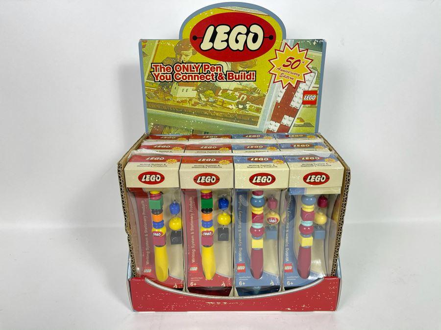 Twelve New 50th Anniversary LEGO Edition Pens With Store Merchandiser