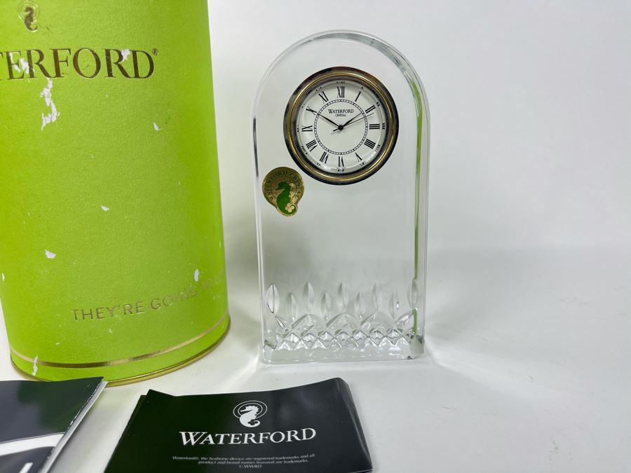 New Waterford Lismore Essence Clock With Box 5.5H