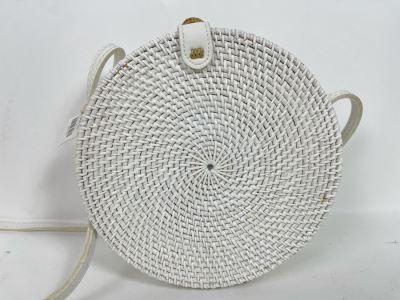 White Paddington Woven Handbag 8'R Retails $68