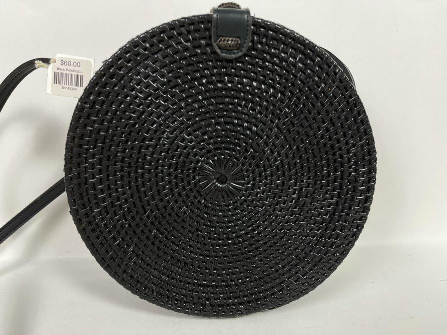 Black Paddington Woven Handbag 8'R Retails $60