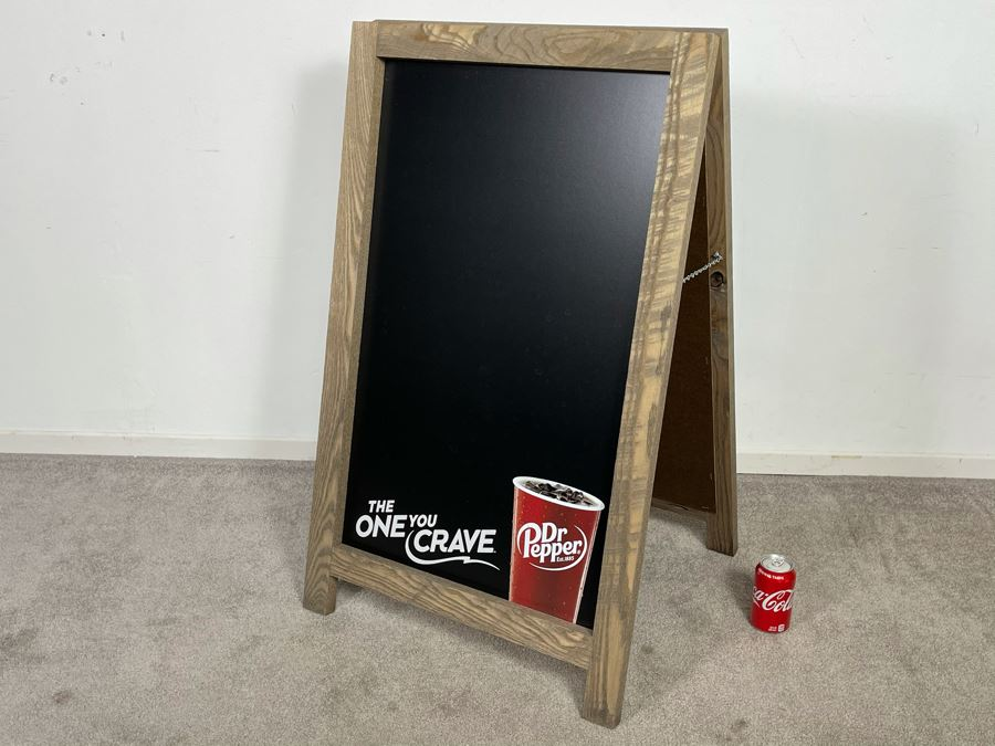 Dr. Pepper Advertising Two-Sided Restaurant Chalkboard Sign 'The One You Crave' 23.5'W X 39'H [Photo 1]