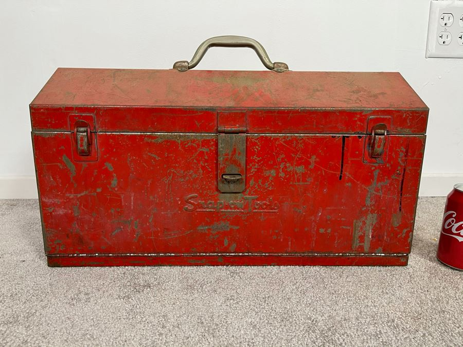 Vintage Snap-On Tools Heavy Duty Red Toolbox 21W X 9D X 12H