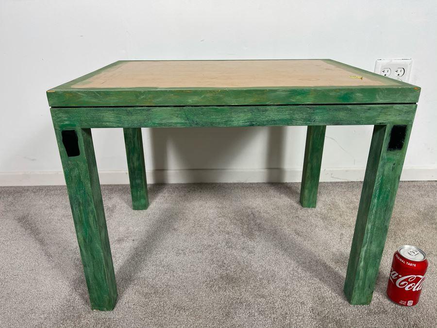 Custom Handpainted Furniture By Artist Jean Klafs Side Table 24L X 18D X 18H [Photo 1]