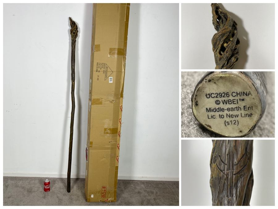 United Cutlery Gandalf Staff UC2926 Reproduction Of Actual Movie Prop From Movie 'The Hobbit: An Unexpected Journey' With Box 73'L Retailed $249