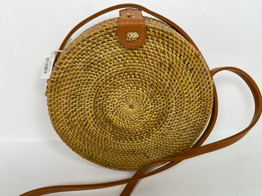 Brown Paddington Woven Handbag 8'R Retails $60