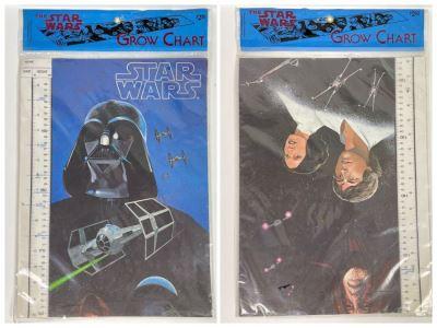 Vintage 1978 Star Wars Growth Chart