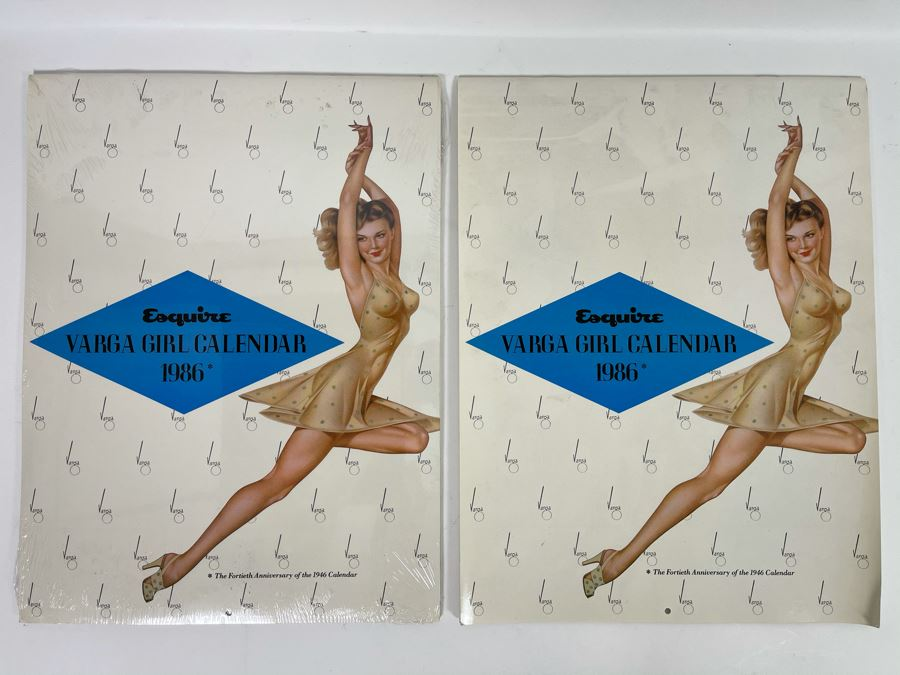 Two Esquire Varga Girl Calendars 1986 (One Is Still Sealed) [Photo 1]