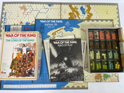 Vintage 1977 SPI War Of The Ring Role Playing Game Based On J.R.R. Tolkien's The Lord Of The Rings