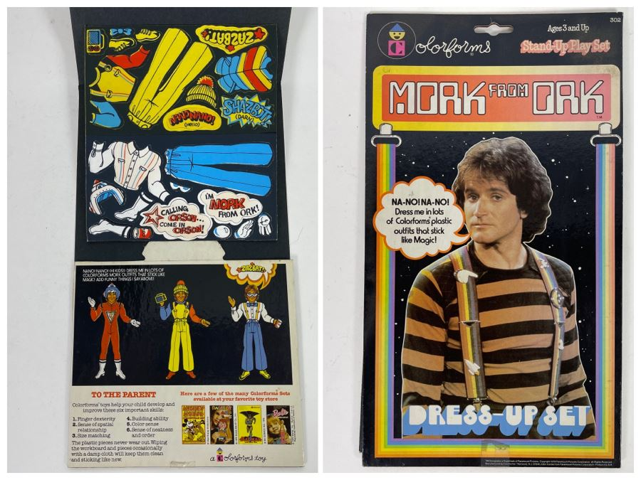 Vintage Unused Mork From Ork Colorforms Stand-Up Play Dress-Up Set Robin Williams