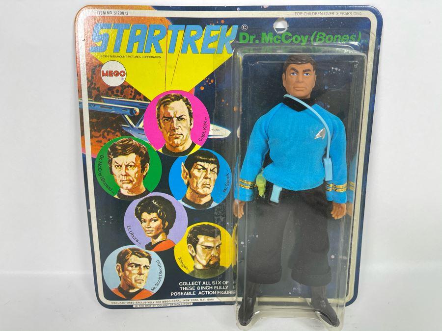 RARE 1974 Original MEGO Star Trek Action Figure Dr. McCoy (Bones) New Old Stock On Card [Photo 1]