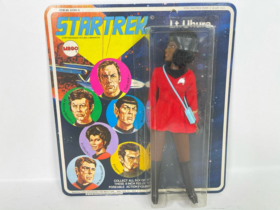 RARE 1974 Original MEGO Star Trek Action Figure Lt. Uhura New Old Stock On Card