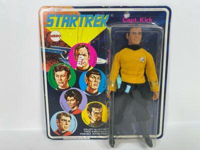 RARE 1974 Original MEGO Star Trek Action Figure Capt. Kirk New Old Stock On Card
