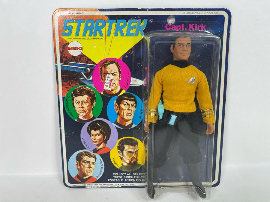 RARE 1974 Original MEGO Star Trek Action Figure Capt. Kirk New Old Stock On Card [Photo 1]