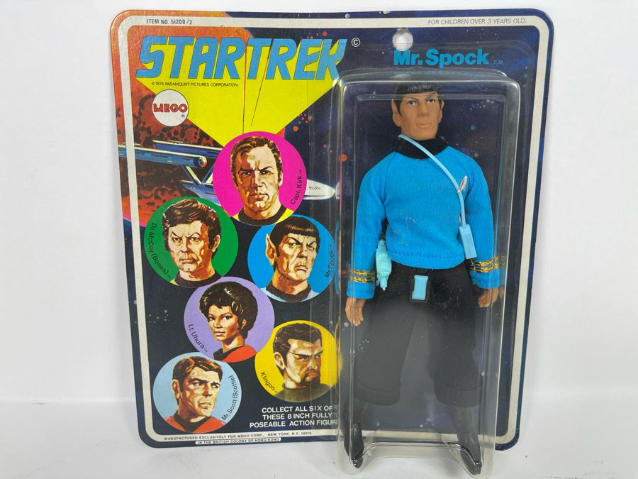 RARE 1974 Original MEGO Star Trek Action Figure Mr. Spock New Old Stock On Card [Photo 1]