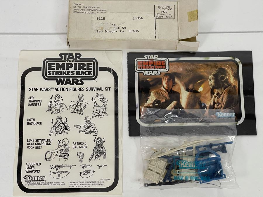 EXTREMELY RARE SEALED 1980 Kenner Mail-Away Offer Star Wars The Empire Strikes Back Star Wars Action Figures Survival Kit (Needed 5 Proofs Of Purchase From Kenner Action Figures) [Photo 1]