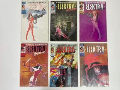 Collection Of Vintage Elektra Assassin Comic Books #1,3,5,6,7,8
