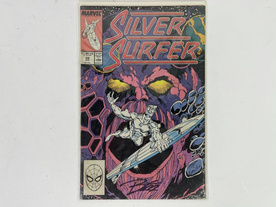 Signed Marvel Silver Surfer #22 Comic Book [Photo 1]