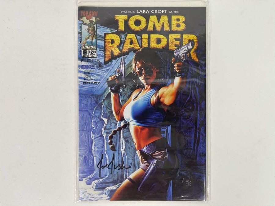 Signed Joe Jusko Comic Book Tomb Raider Starring Lara Croft #6 [Photo 1]