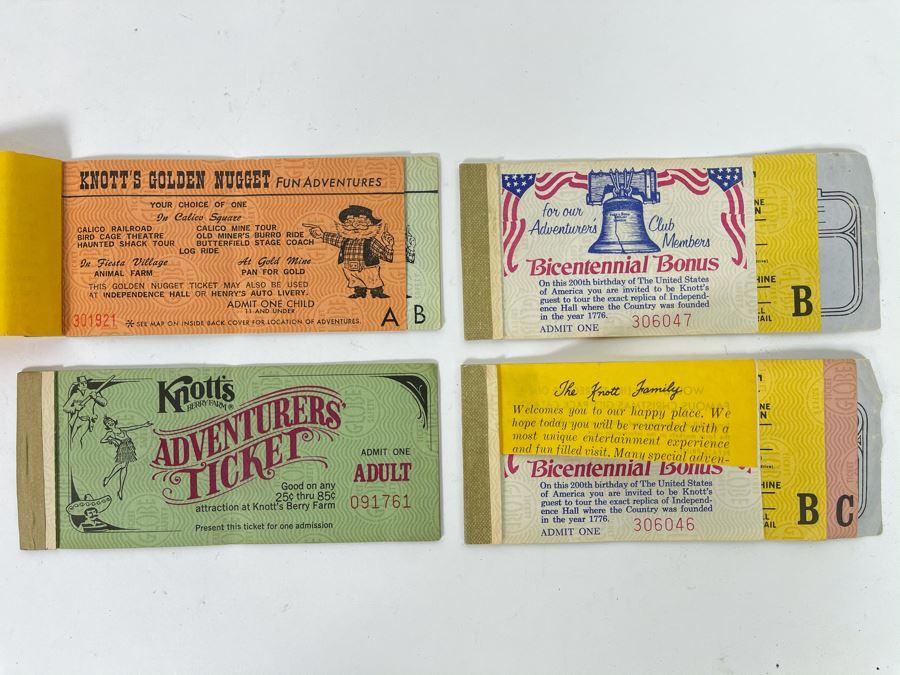 Vintage 1970s Knott's Berry Farm Tickets