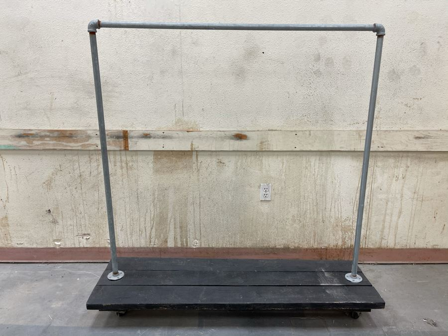 Handcrafted Industrial Clothing Rack From RAEN (RAEN Recently Grew Into Bigger Space) 56W X 16D X 56H