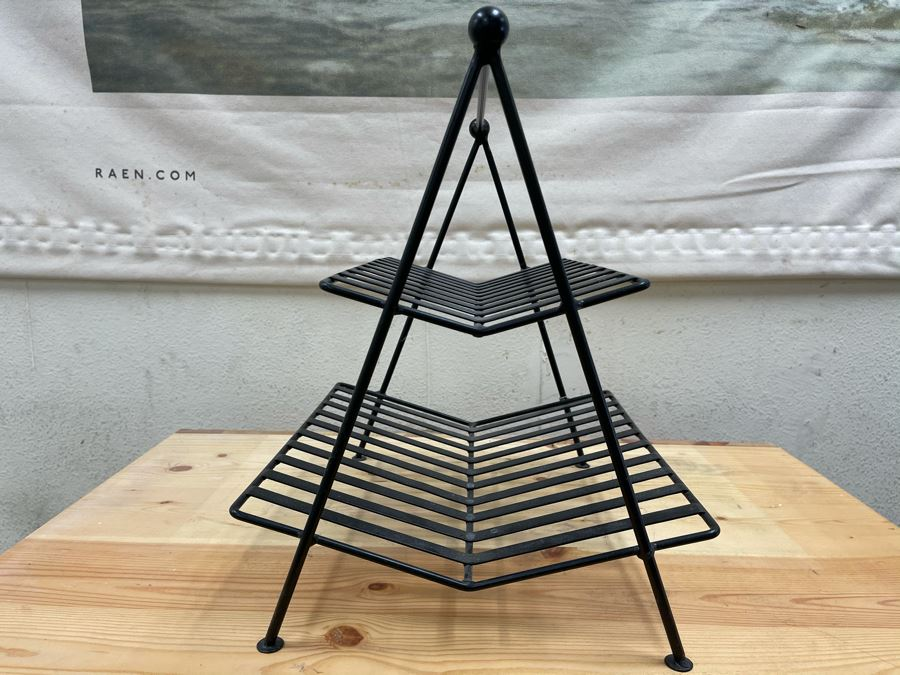 Mid-Century Style 2-Tier Metal Magazine Rack From RAEN (RAEN Recently Grew Into Bigger Space) 17W X 14D X 17H [Photo 1]