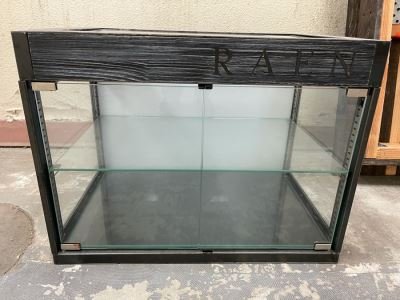 RAEN Metal And Glass Countertop Mercantile Display Cabinet With Back Lighting (RAEN Recently Grew Into Bigger Space) 24W X 16D X 18H
