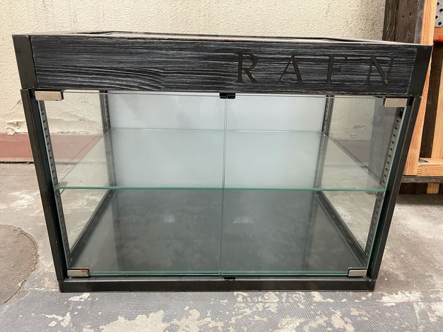 RAEN Metal And Glass Countertop Mercantile Display Cabinet With Back Lighting (RAEN Recently Grew Into Bigger Space) 24W X 16D X 18H [Photo 1]